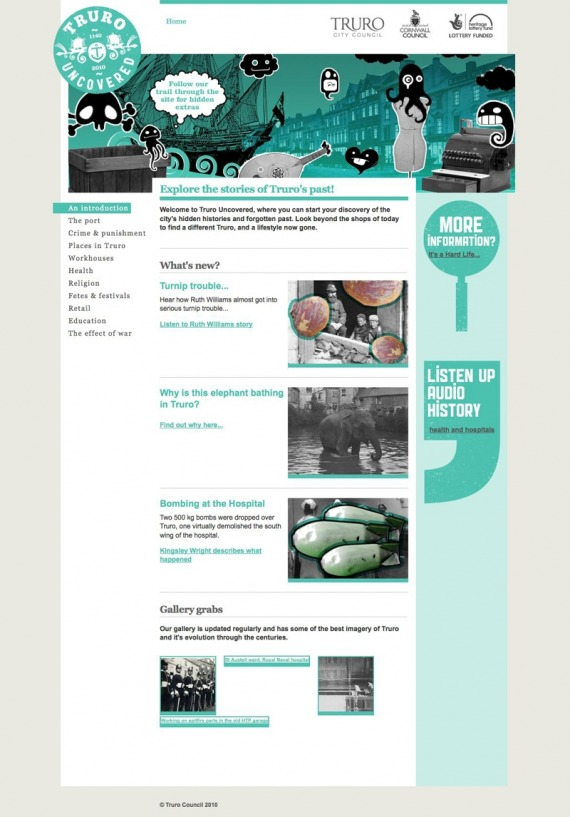 Truro Uncovered website